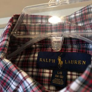 Ralph Lauren Blue Label Plaid Long Sleeve shirt